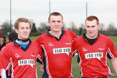 Sam Higgins, Alex Davidson and Matt Stansfied